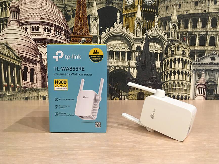 Коробка и усилитель Wi-Fi сигнала TP-Link TL-WA855RE